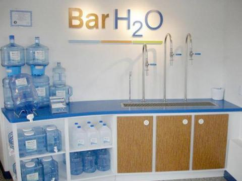 Bar H2O is using a 25-step proprietary process from Aquathin Corp. USA, that involves re-mineralizing,  the pharmaceutical-grade, pure water.
