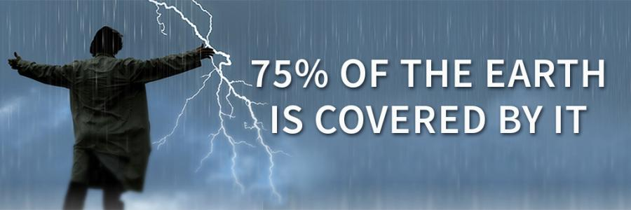 75% of the earth is covered by it